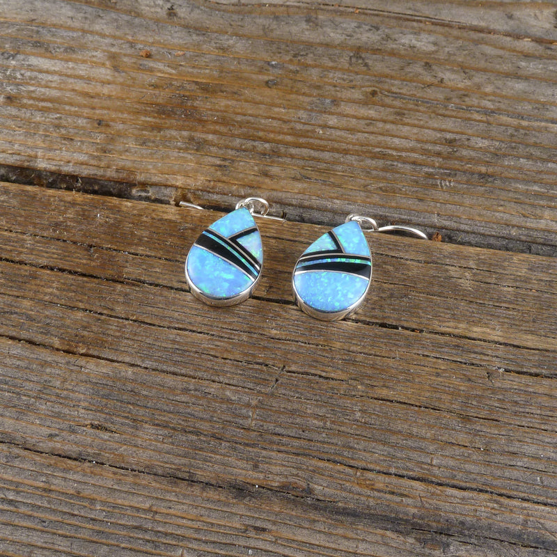 Cathy Webster Opal Inlay Earrings