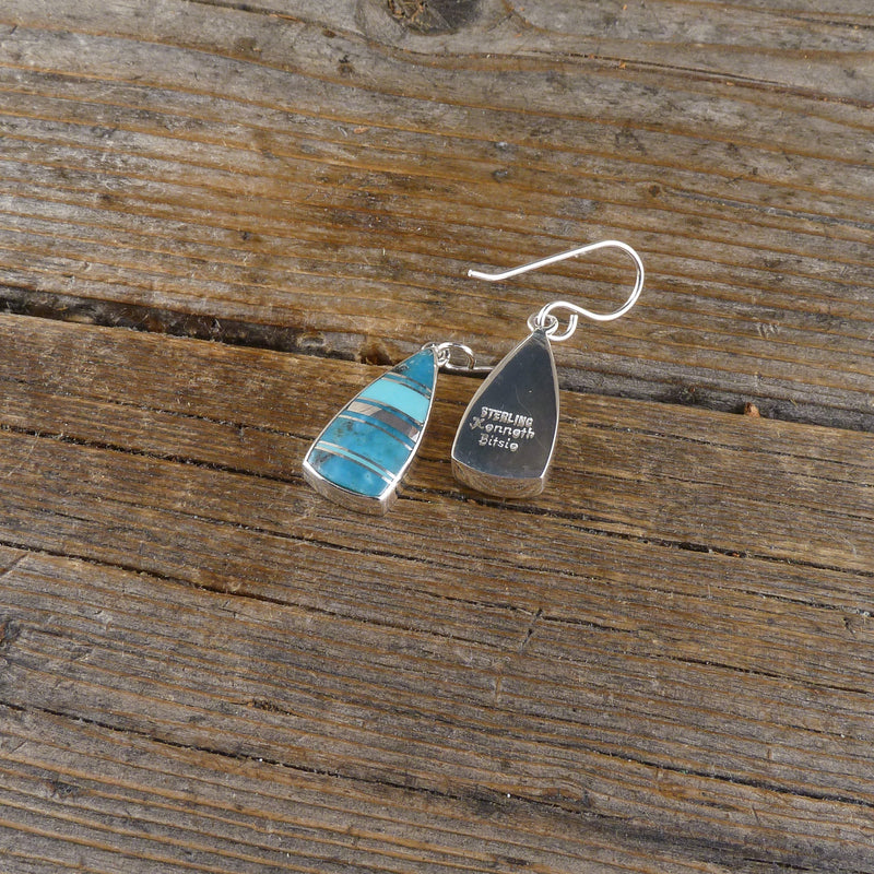 Kenneth Bitsie Inlay Earrings