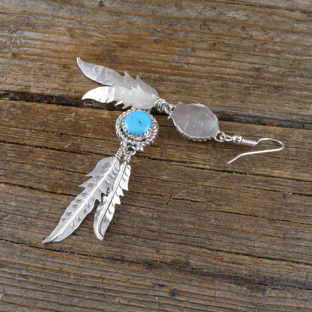Francis Pete Turquoise Feather Earrings