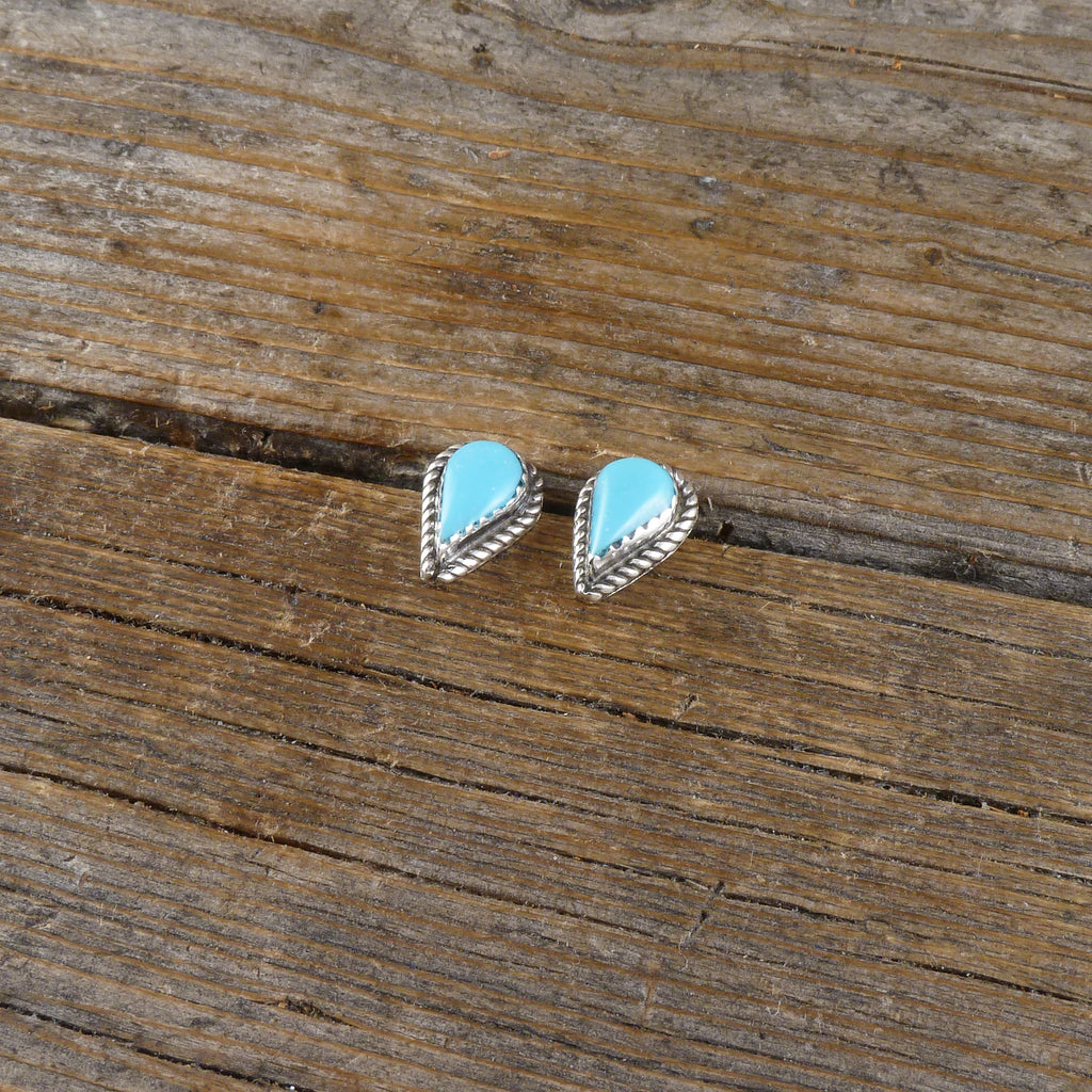 Turquoise Teardrop Stud Earrings