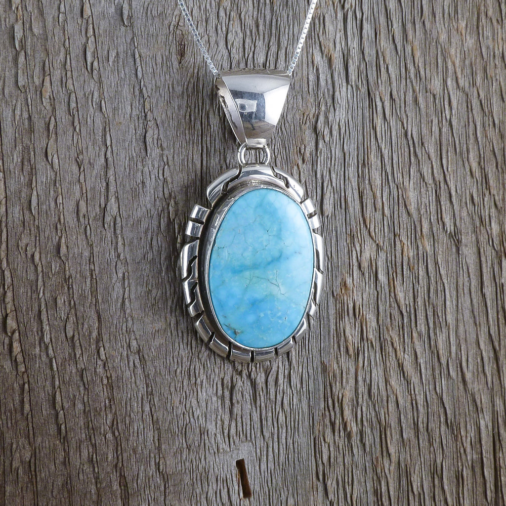 Peggy Skeets Turquoise Pendant