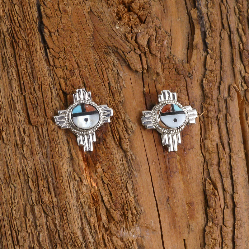 Silver Spirit Bear Earrings