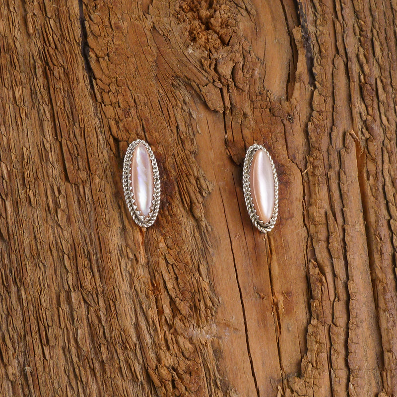Delbert Kallestewa Round Inlay Earrings