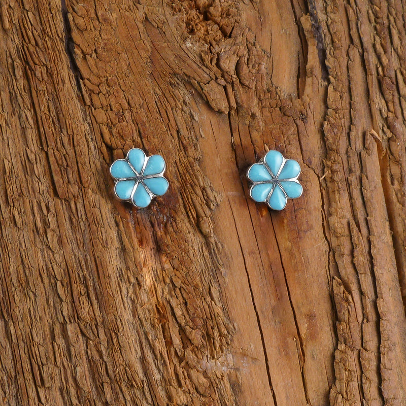 Henrietta Quetawki Turquoise Chandelier Earrings