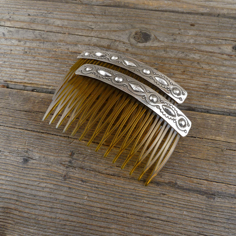 Silver Stamp Hair Pin