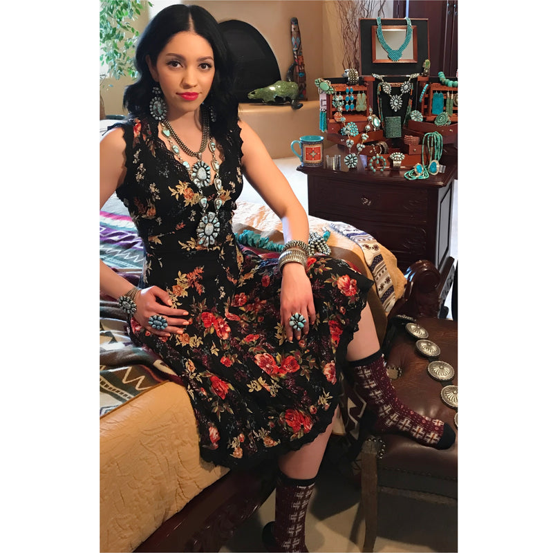 Floral Print Dress Featured in Cowboys & Indians Magazine