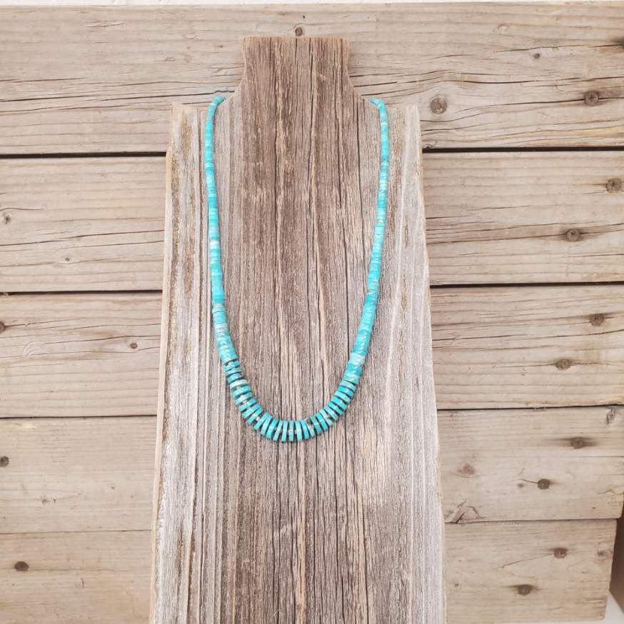 Fred Archuleta Turquoise Heishi Necklace