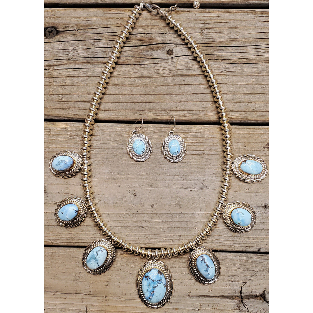 Golden Hill Turquoise Necklace & Earrings