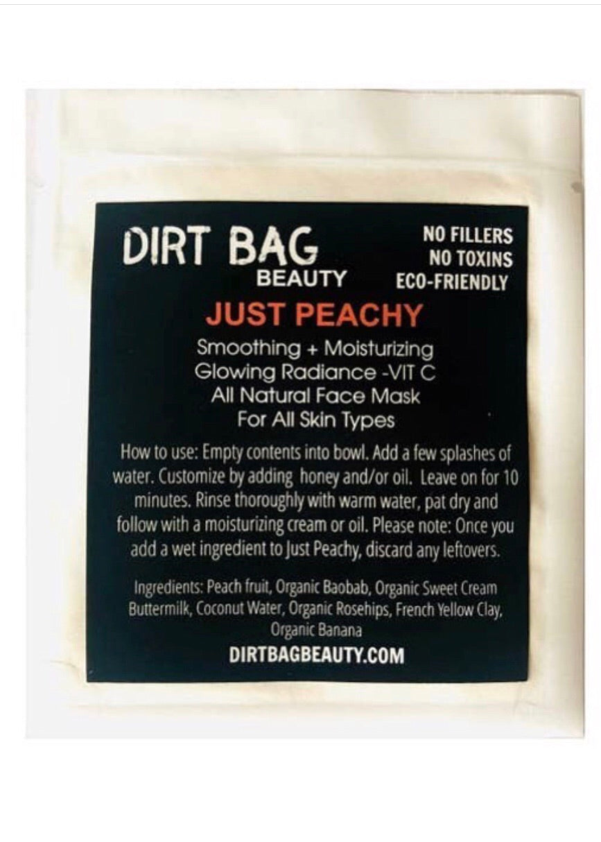 Just Peachy Face Mask Single Use