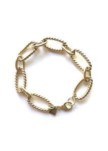 kennedy bracelet rope the moon jewelry gold large link gold plated bracelet