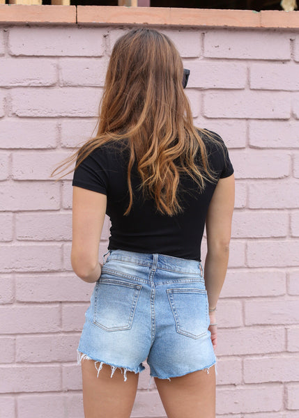 OC Boutique black t-shirt bodysuit with thong back 3