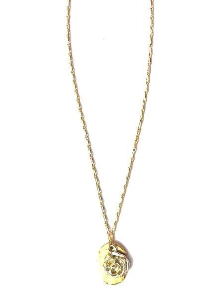 gold plated flower charm necklace brandy necklace rope the moon jewelry