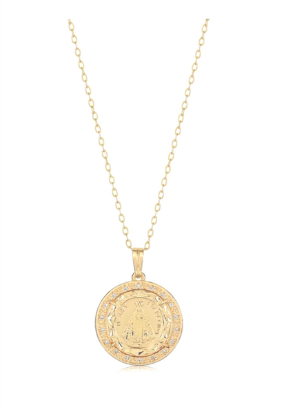 Round Micropave Medallion Pendant