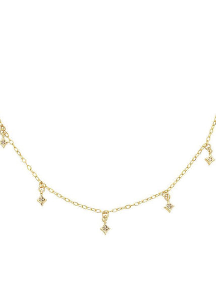 Hanging Diamonds Choker Chain