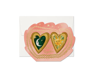 locket love card red cap cards