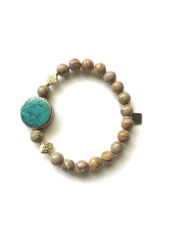 santos bracelet rope the moon jewelry brass and jasper gemstones bracelet