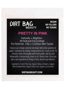 Pretty in Pink Vegan Face Mask Single Use