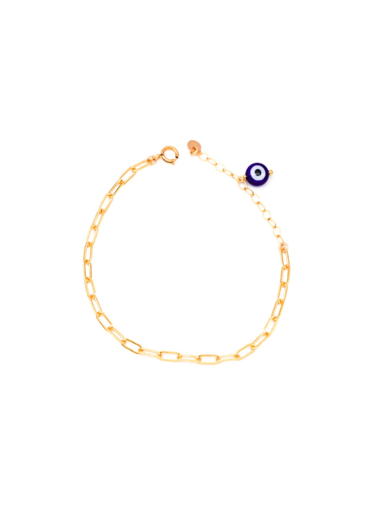 Link chain with Evil Eye + Coin Bracelet