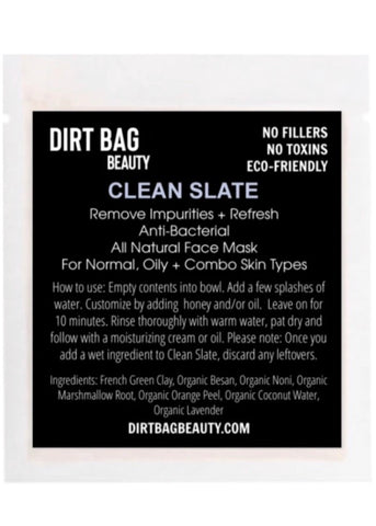 Clean Slate Organic Face Mask