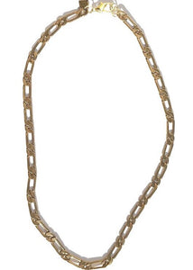 polished brass large figaro chain