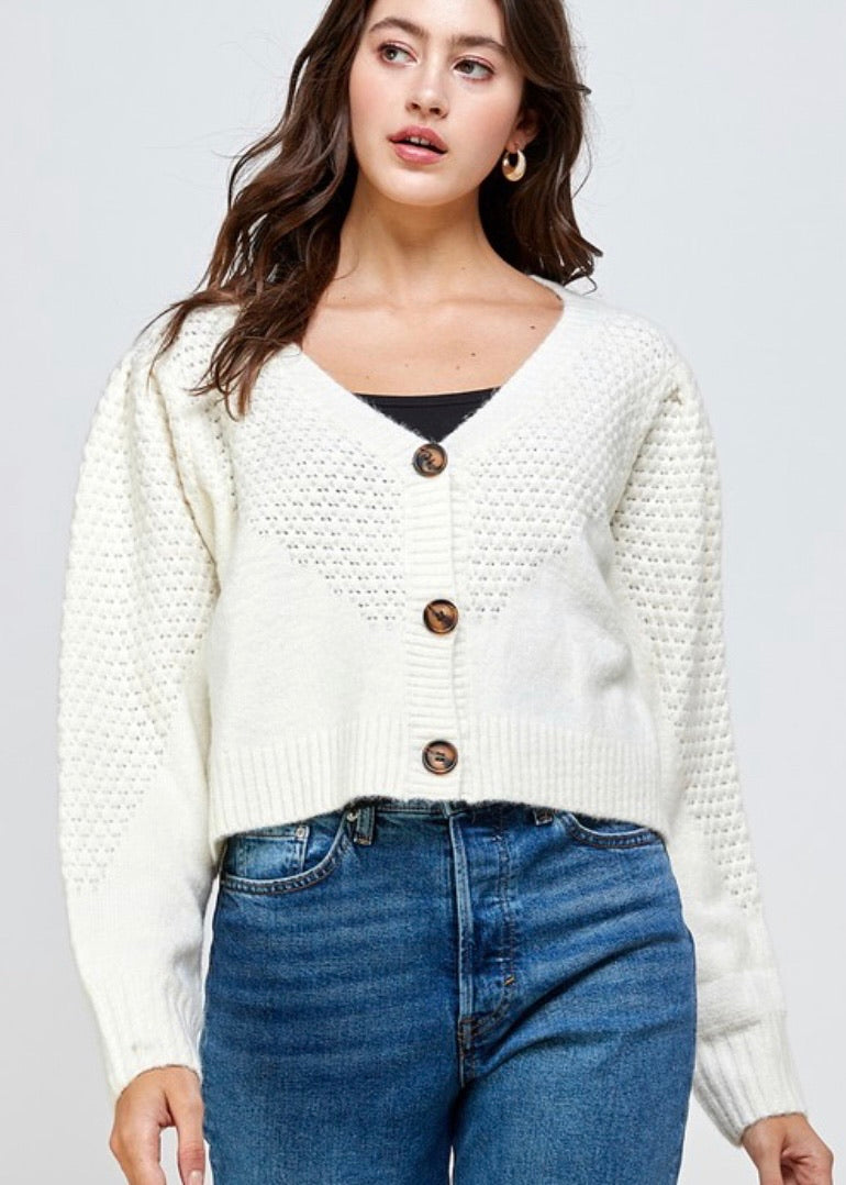 OC Boutique women ivory cardigan 1