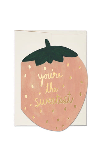 you're the sweetest red cap card