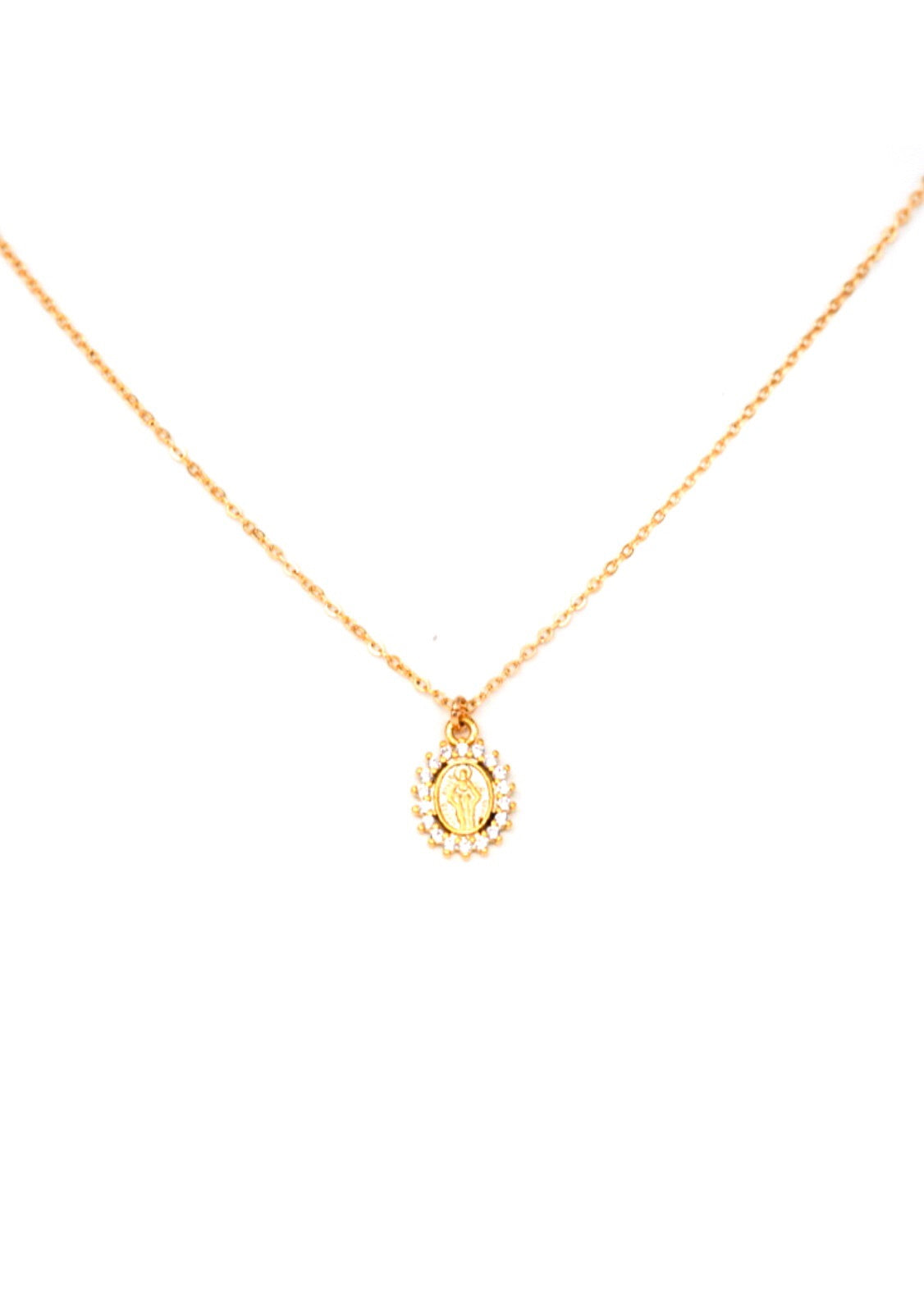 CZ Virgin Marty gold filled necklace by May Martin 1