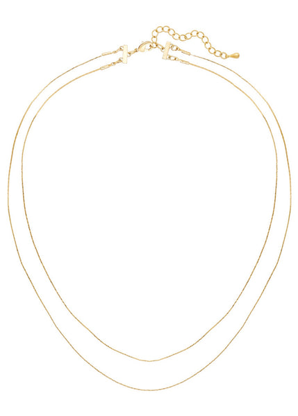 skinny layerd snake chain necklace by five and two jewelry