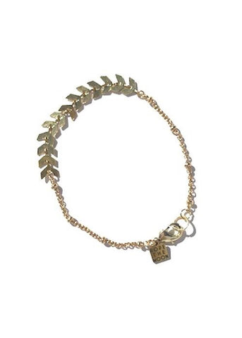 chevron bracelet rope the moom jewelry gold plated satellite chain paired with cheveron style chain