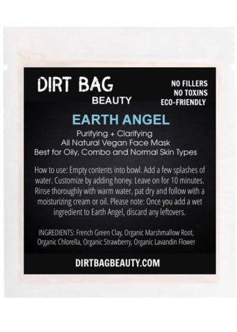 Earth Angel Vegan Face Mask Single Use