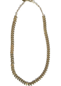 gold plated chevron style chain