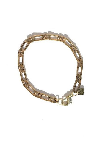chain brass bracelet with clasp