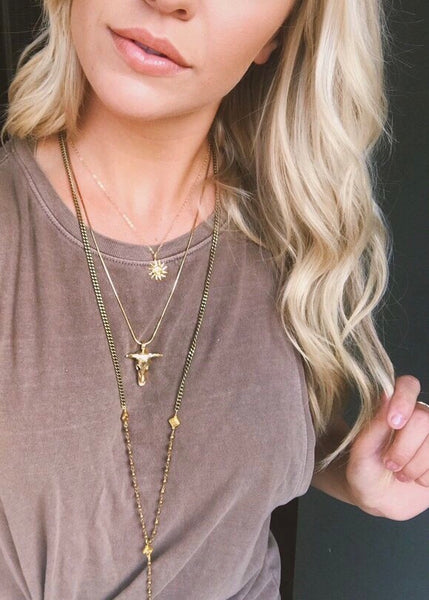 gold filled sun necklace by Rope the Moon