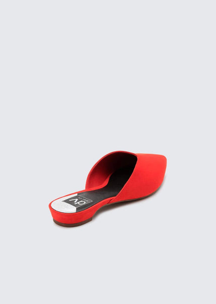 red flat slides by Dolce Vita