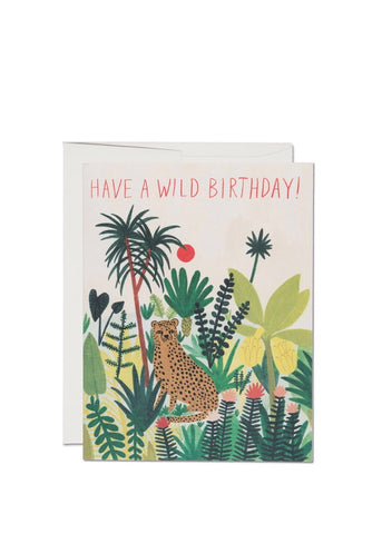 Cheetah Birthday Card