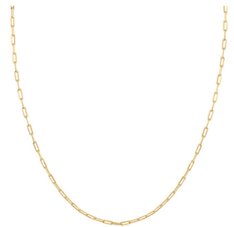 oc boutique thin chain link necklace gold filled vivianna d otanon