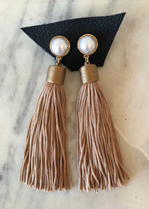 Pearl + Tassel Earrings