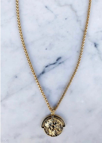 rope the moon oc boutique gold plated travler necklace