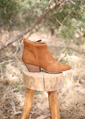 pearse booties by dolce vita brown suede
