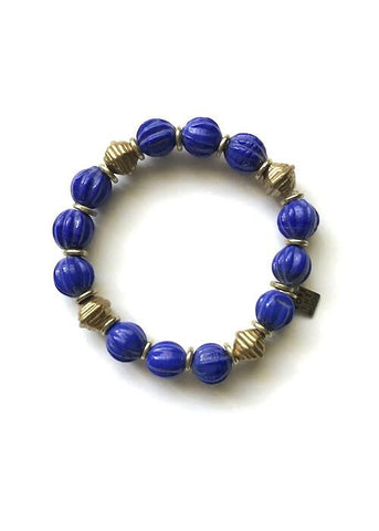 marquis bracelet rope the moon blue brass beads elastic bracelet