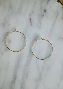 may martin gold filled sparkle hoop earrings