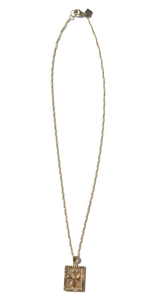 Delicate gold plated chain with gold filled rectangle cross charm