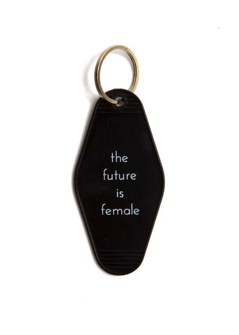 oc boutique the future is female motel keychain