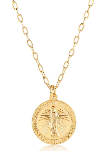 OC Boutique Virgin Mary Medallion gold filled necklace Viviana D Otanon 2