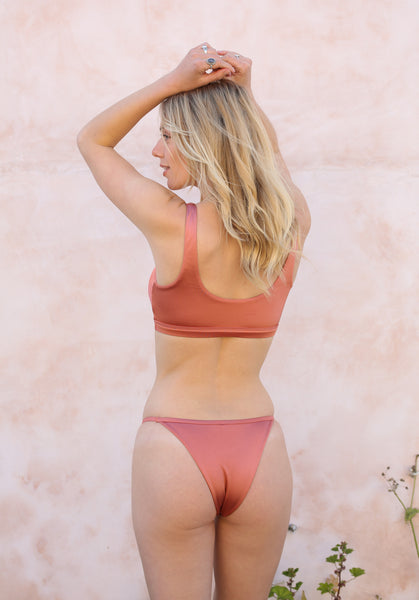 OC Boutique Bare with me string bottoms vyb swim rose gold bikini bottoms 5
