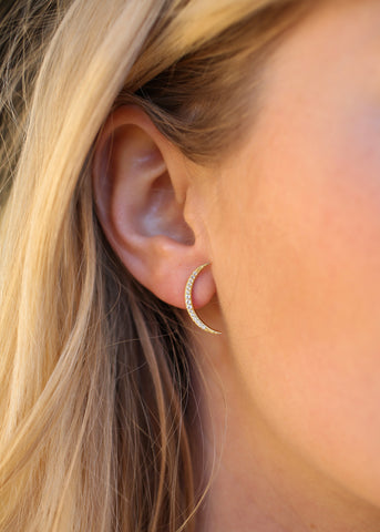 Shimmer Crescent Earrings