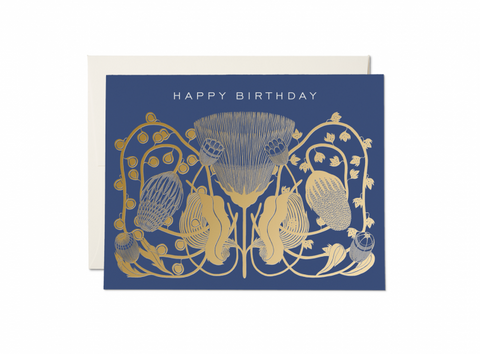 Happy Birthday Cobalt Card
