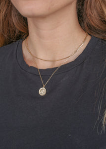 OC Boutique Virgin Mary Medallion gold filled necklace Viviana D Otanon 1