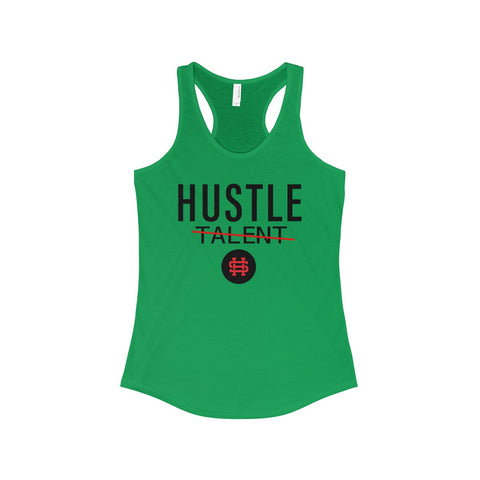 Hustle Over Talent Racerback Tank