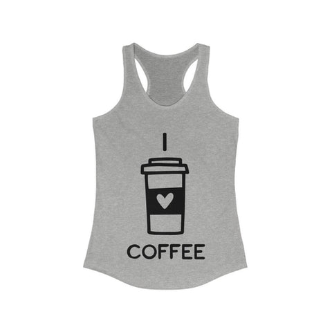 I Love Coffee Women's Ideal Racerback Tank Top